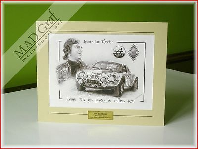 Renault Alpine A110 rally car Jean Luc Therier World Rally 1973 MAD Graf art