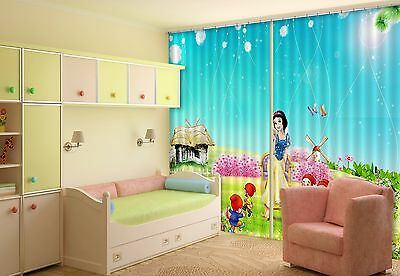 3D Cartoon 84 Blockout Photo Curtain Printing Curtains Drapes Fabric Window CA