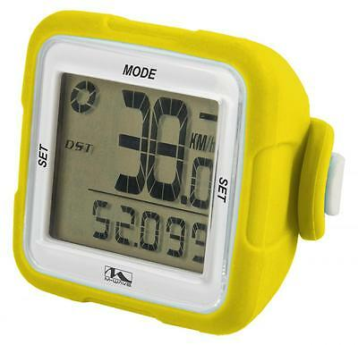 M Wave XIV Bike Cycle 14 Function Wireless Digital Computer Silicone Yellow
