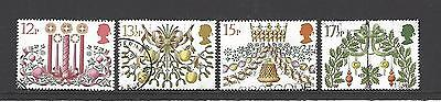 Gb 1980 Christmas Sg1138/42 Used Set