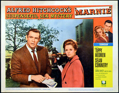 MARNIE 1964 Sean Connery, Tippi Hedren - Alfred Hitchcock LOBBY CARD #7