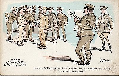 In Training: Sketches Of A Tommy's Life: Ww1 Military Comic Postcard