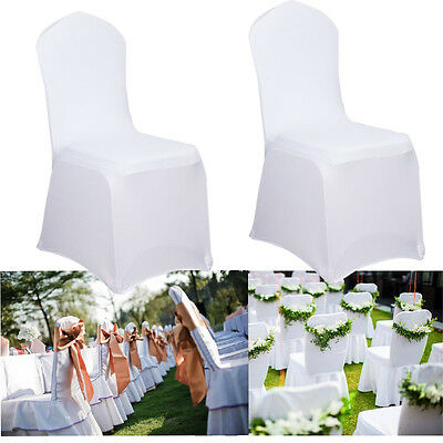 10-50 pcs Stuhlhusse Stuhlüberzug Chair Covers Wedding Banquet Party Decoration