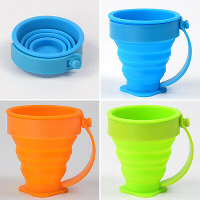 Silicone Collapsible Cup Folding Cup Drinking Travel Camping Retractable