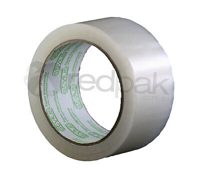 6 x General Packaging Tape Rolls 48mm x 75m Clear