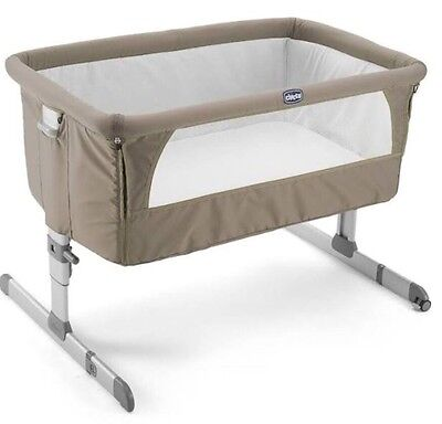 CHICCO Next To Me Cot In Dove Grey - Used Twice - Immaculate