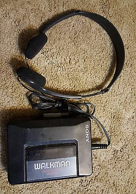 Sony Walkman WM-2011 Portable Cassette Player w/ Headphones (TRH-2) - WORKS