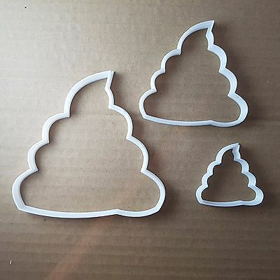 Poo Emoji Text Smiley Shape Cookie Cutter Funny Biscuit Pastry Fondant Sharp