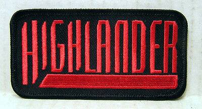 """HIGHLANDER TV Series Logo Embroidered Patch- Size: 4""""- FREE S&H (HIPA-001)"""