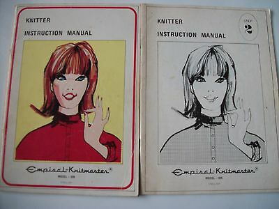 Vintage Knitmaster 326 Knitting Machine Instruction Manuals 1 And 2