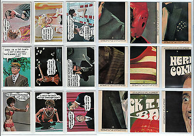 1968 Topps Canada Laugh In Laughin Part set of 40 Trading Cards.