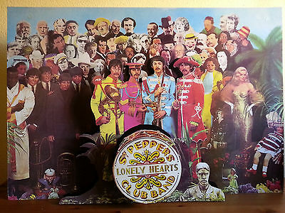 MEGARARE The Beatles PROMO 3D-DISPLAY for Sgt. Peppers Lonely Hearts Club Band