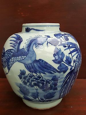 Chinese antique blue and white Ginger Jar without lid