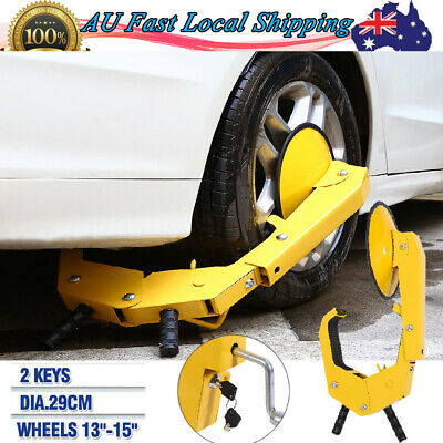 13-15'' Wheel Clamp Disc Lock Anti-Theft Security Safety Auto Car Vehicle 2 Keys