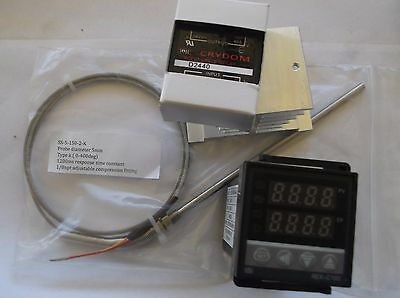 Temperature controller kit  Crydom 40A SSR , Heatsink  and k type thermocouple