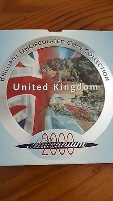 Royal Mint United Kingdom Brilliant Uncirculated Coin Collection 2000
