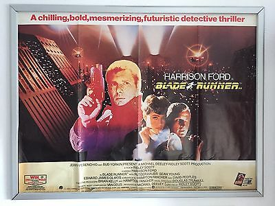 Blade Runner 1982 Original Uk Quad Cinema Poster Rare