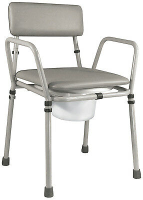 Aidapt Essex Height Adjustable Commode Chair (colour Grey )