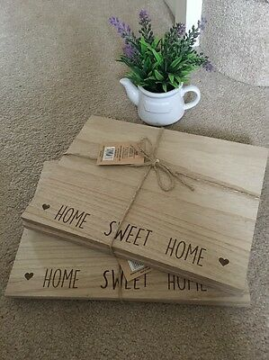 4 SHABBY but  CHIC Heart Table PLACE MATS  & Coasters KITCHEN Wooden