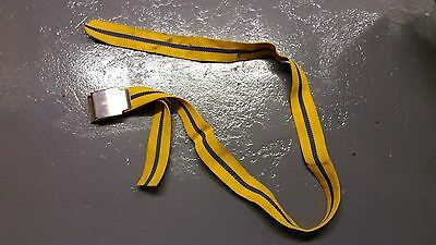 Dive Dynamics Webbing Weight Belt - Blue / Yellow - 155cm