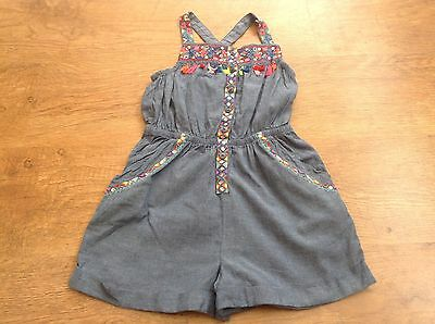 Monsoon Girls Summer Embroided Playsuit 7Yrs