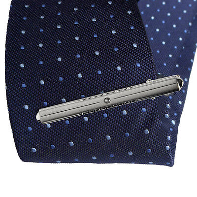 Silver Mens Metal Simple Necktie Tie Bar Clasp Clip Practical Party Stylish Gift