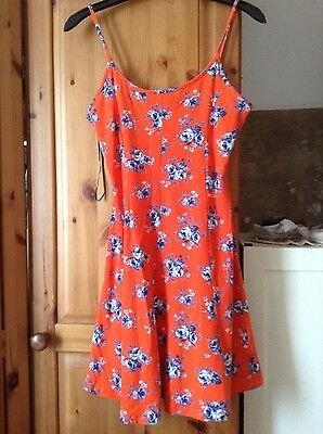 NEW LOOK Sundress Size 10  Red Floral