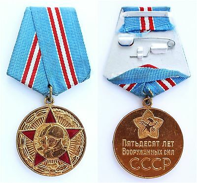 Soviet Russian Jubilee Medal 50 Years of the Armed Forces of the USSR CCCP MINT