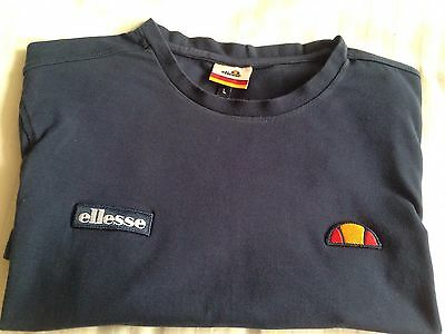 Men's Boys Navy T Shirt Size L. Ellesse.