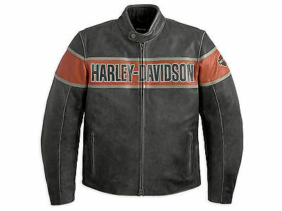 Harley Davidson Victory Lane Men's Motorcycle Leather Jacket All Sizes Available