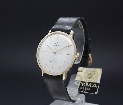 New Old Stock 50s CYMA DRESS FLAT vintage mechanical watch NOS R. 424 pristine