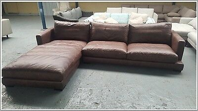 NEW LEATHER Hamilton 3 Seat Modular With Chaise - freedom - $5499