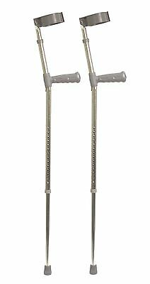 Aidapt Pvc Wedge Handle Elbow Crutch 870-1155 mm Silver/Grey Adult (Large)