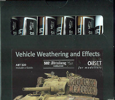 MIG PRODUCTIONS  OilSET for Modelers - Set ABT 320: Vehicle Weathering and Effec