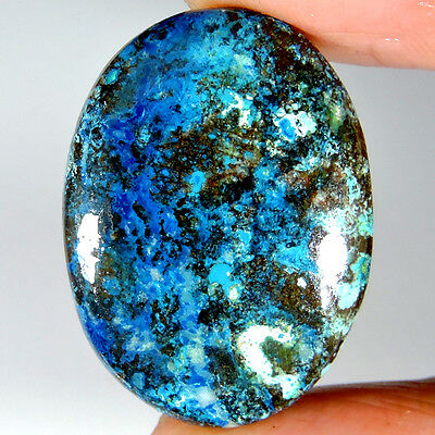 40.65cts 100% NATURAL ROYAL QUALITY DESIGNER AZURITE OVAL CABOCHON A+ GEMSTONE