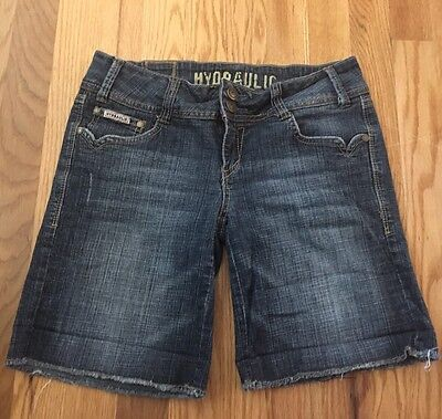 Hydraulic Jean Shorts Low Rise Juniors Ladies Size 3/4