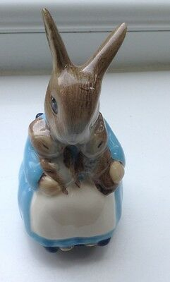 Royal Albert Mrs Rabbit & Bunnies Vintage Beatrix Potter Good Condition