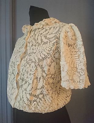 Beautiful Early 20th Century / Edwardian Honiton Lace Blouse - Antique Fashion