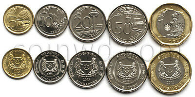 Singapur 5 coins set 2013 Buildings (#3299)