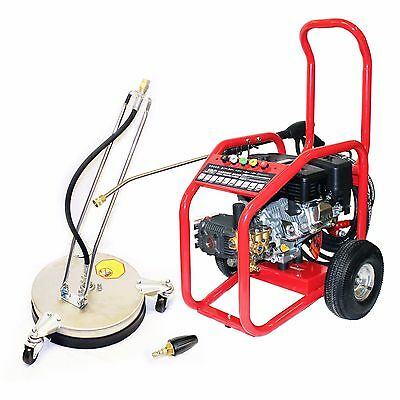 Petrol Jet Washer Warrior 3000P Pressure Cleaner Driveway Pack Block Paving