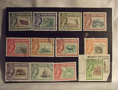 North Borneo 13 stamps used.