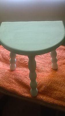** Shabby chic - vintage French 3 leg stool - hand painted**
