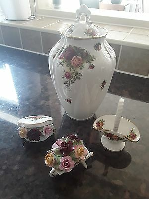 royal albert old country roses, ornamental items