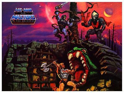 He-Man POSTER *Fright Zone* Masters of the Universe *VERY LARGE* He Man Skeletor