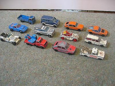 Collection of 12 Vintage Majorette Diecast Cars / Vehicles - Spares or Repair