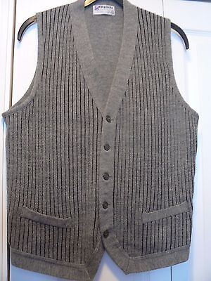 """Vintage Kilspindie Of Scotland Pure New Wool Waistcoat 40"""" chest"""