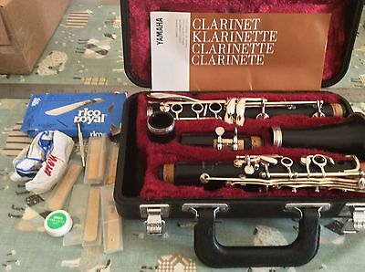 Yamaha 26II Clarinet 6C Mouthpiece Very Good Condition & Reeds Cased