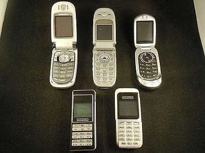 Job lot of Motorola/Alcatel mobile phones for spares - faulty/not working
