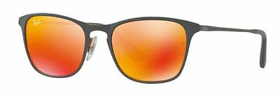 NEW RAY BAN JUNIOR KIDS SUNGLASSES RB9539S 2586Q Grey / Yellow - Red Mirror Lens