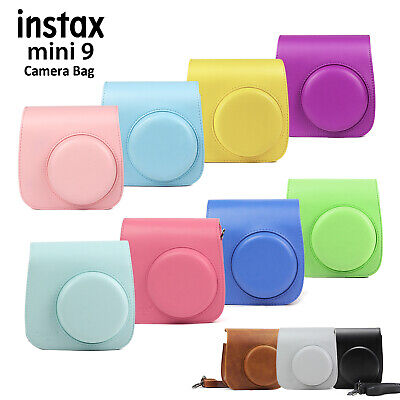 For Fujifilm Instax Mini 8 9 Film Instant Camera PU Leather Bag Shoulder Case US